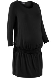 Мода для беременных: трикотажное платье с функцией кормления (черный) Bonprix