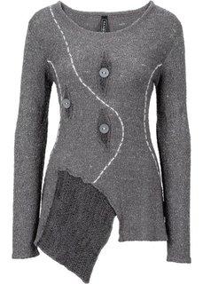 Вязаный пуловер (светло-серый меланж) Bonprix