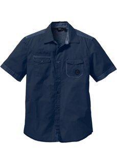 Рубашка Regular Fit с коротким рукавом (темно-синий) Bonprix