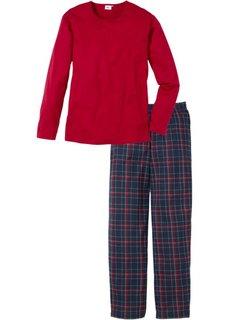 Пижама (красный в клетку) Bonprix