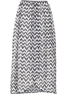 Пляжная юбка (черный/белый) Bonprix