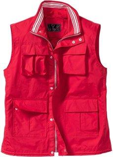 Жилет для активного отдыха Regular Fit (красный) Bonprix
