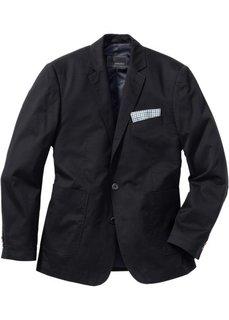 Хлопковый жакет Regular Fit, низкий + высокий рост U + S (черный) Bonprix