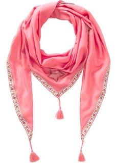 Треугольный платок со звездами и окантовкой (ярко-розовый) Bonprix