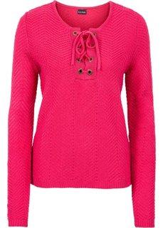 Пуловер (ярко-розовый) Bonprix