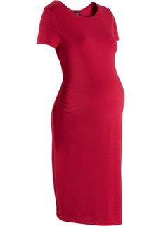 Для будущих мам: платье из материала Punto di Roma (темно-красный) Bonprix