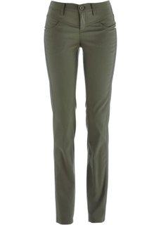 Прямые брюки стретч (темно-оливковый) Bonprix