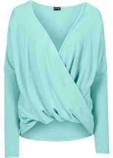 Вязаный пуловер (мятный пастельный) Bonprix