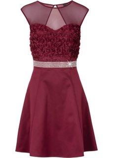 Платье с кружевной отделкой (темно-бордовый) Bonprix