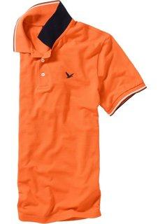 Футболка поло Regular Fit (оранжевый) Bonprix