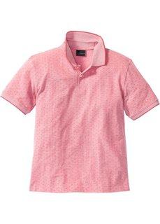 Футболка-поло Regular Fit с узором (розовый в горошек) Bonprix