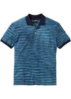 Футболка-поло Regular Fit (сине-зеленый/темно-синий меланж) Bonprix