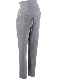 Мода для беременных: трикотажные брюки (серый меланж) Bonprix