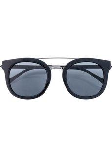 Солнцезащитные очки с металлической оправой (черный/серебристый) Bonprix