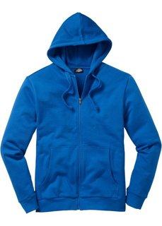 Трикотажная куртка стандартного покроя с капюшоном (лазурный) Bonprix