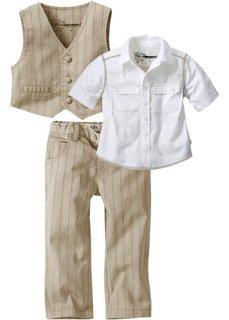 Комплект-тройка  для мальчика: рубашка + жилет + брюки (светло-серый) Bonprix