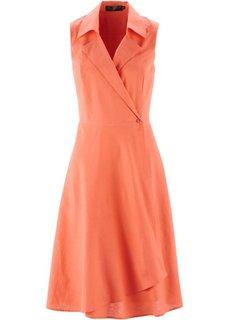 Платье из льна и хлопка (лососевый) Bonprix