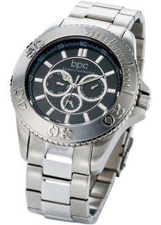 Мужские наручные часы Пете (серебристый) Bonprix