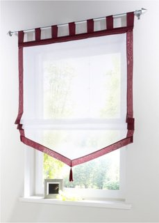 Римская штора Зюльт, Петли (красная ягода) Bonprix
