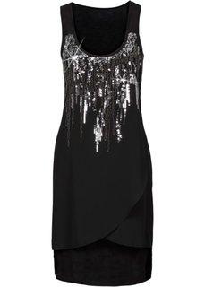 Платье с пайетками (черный/серебристый) Bonprix