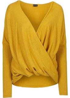 Вязаный пуловер (медовый) Bonprix