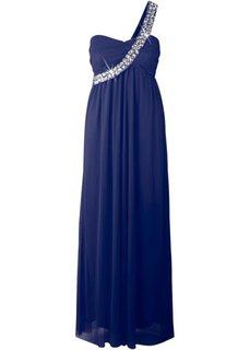 Макси-платье на одно плечо (ночная синь) Bonprix