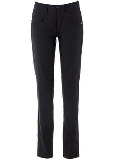 Прямые брюки стретч (черный) Bonprix