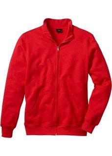 Трикотажная куртка стандартного покроя (клубничный) Bonprix