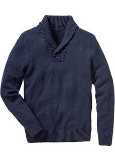 Пуловер Slim Fit (темно-синий) Bonprix