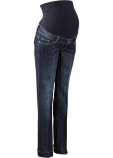 Мода для беременных: расклешенные джинсы (темно-синий «потертый») Bonprix