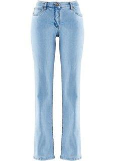 Джинсы стретч Straight, низкий рост (K) (голубой) Bonprix