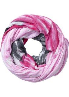 Шарф-снуд Радуга (антрацитовый/горячий ярко-розовый/розовый) Bonprix