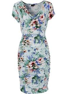 Платье (экрю с узором) Bonprix