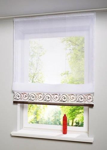 Подъемная штора Наташа, Шина с лентой велкро (коричневый)