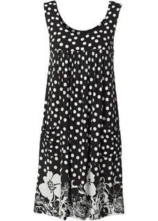 Платье (черный с рисунком) Bonprix