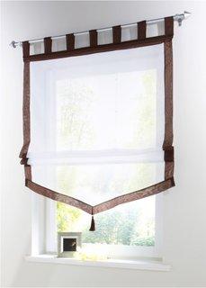 Римская штора Зюльт, Петли (коричневый) Bonprix