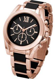Роскошные наручные часы-хронограф (черный/золотистый) Bonprix
