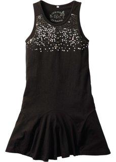 Платье с пайетками, стандартный (черный) Bonprix