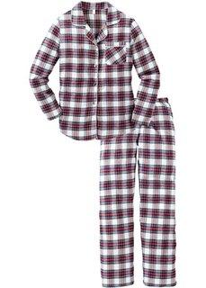 Фланелевая пижама (белый/красный/лазурный/темно-синий/нежно-желтый) Bonprix