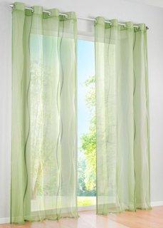 Гардина Вена (1 изд.), люверсы (зеленый) Bonprix