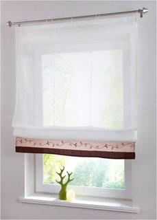 Римская штора Айлин, Шина с лентой велкро (коричневый) Bonprix