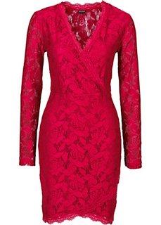 Кружевное платье (темно-красный) Bonprix
