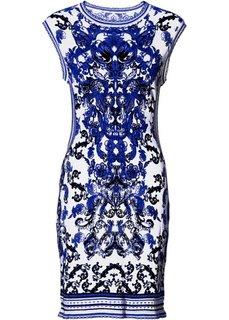 Платье (белый/синий) Bonprix