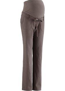 Льняные брюки для будущих мам (бурый) Bonprix