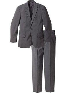 Мужской костюм Regular Fit (2 изд.), cредний рост N (серый меланж) Bonprix