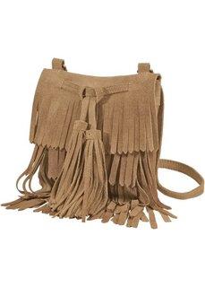 Замшевая сумка с бахромой (коньячный) Bonprix