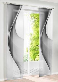 Японская штора Лиа (1 шт.), Шина с лентой велкро (серый) Bonprix