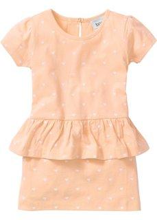 Детское платье с баской (нежно-персиковый) Bonprix