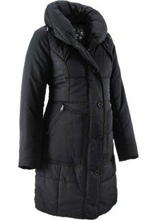 Для будущих мам: стеганая куртка (черный) Bonprix
