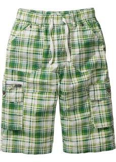 Бермуды с карманами (зеленый в клетку) Bonprix